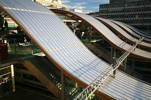 """The Wave"" is the new western access to the railway station, built from 2004 to 2005, Berne, Berne canton, Switzerland"