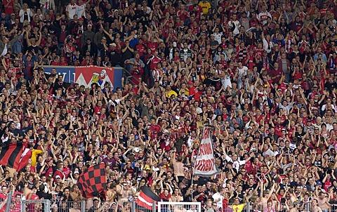 Football fans of 1. FC Nuremburg, Bavaria, Germany