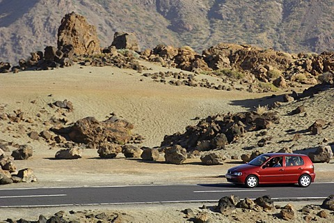 Los Roques in Teide National Park, Teneriffe, Canary Islands, Spain
