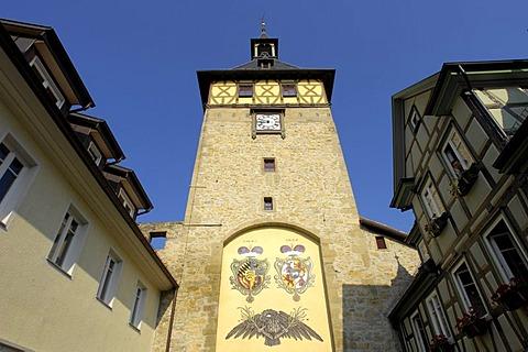 Oberer Torturm (Upper Tower) Marbach am Neckar, Baden-Wuerttemberg, Germany