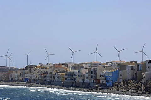 Wind power generation Gran Canaria, Canaries, Spain
