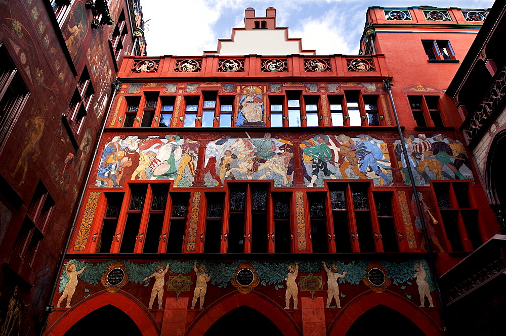 Inner courtyard, Town Hall, Basel, Switzerland