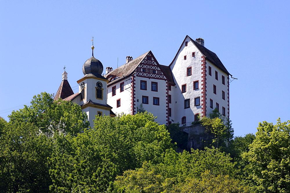 Burg Egloffstein, Egloffstein Castle, Egloffstein, Middle Franconia, Bavaria, Germany, Europe