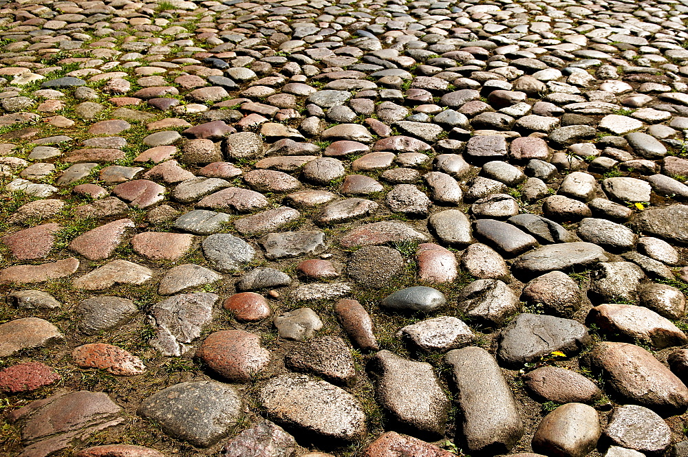 Old cobbled pavement, Lueneburg, Lower Saxony, Germany, Europe