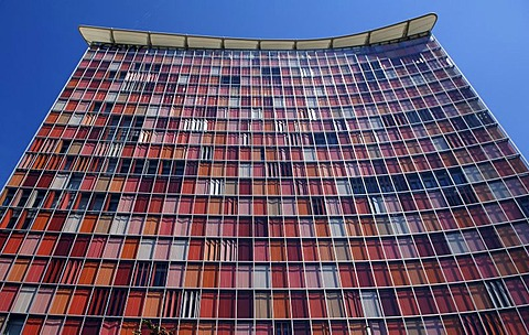 Facade of the multistory building of the GSW, Berlin, Germany, Europe