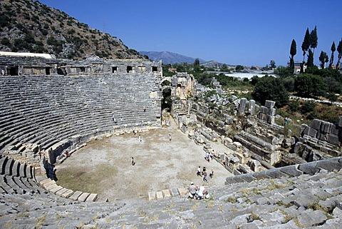 Roman amphitheatre, Myra, Lycia, Turkey