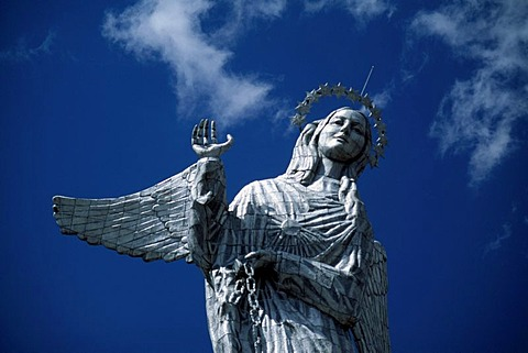Statue of Virgin Mary, Quito, Ecuador, South America