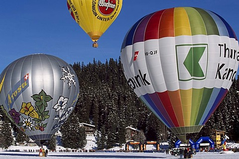 Arosa balloon festival, Grisons, Switzerland