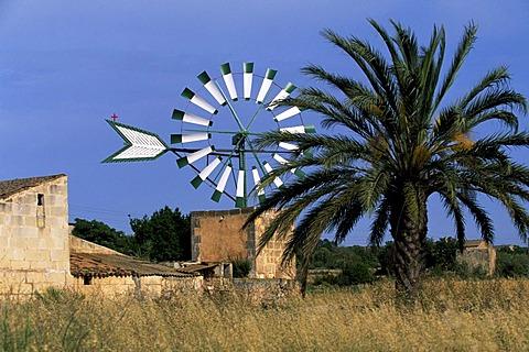 Wind mill, Casa Blanca, Majorca, Spain