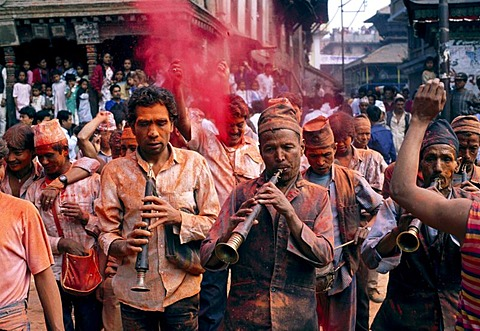 Photo of Bisket Jatra Festival, Nepalese New Year, Bakthapur, Kathmandu, Nepal, Asia