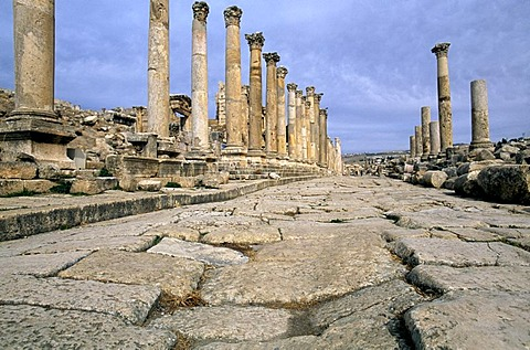 Colonnade, Jerash, Jordan, Middle East