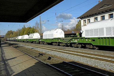 Castor rolls to 8.11.04 at 12.05 o'clock through bienenbuettel|railroad line Hamburg - Hannover