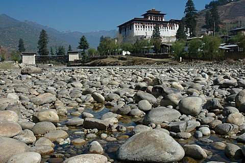 Bhutan, Kingdom, Himalaya, Rinpung Dzong with National Museum