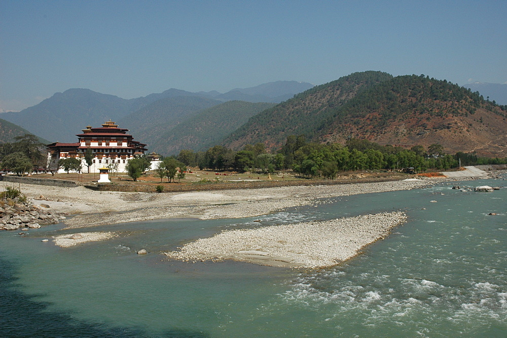 Punakha Dzong (Pungthang Dechen Dzong), Bhutan, Himalaya