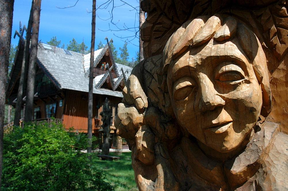 Woodcarving, Druskininkai, Dzukija, Lithuania
