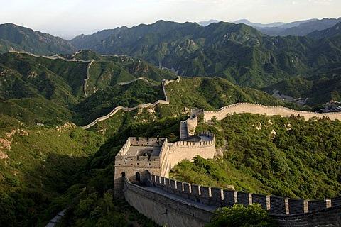The Great Wall of China near Badaling, China