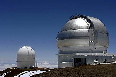 Observatories at Mauna Kea, Big Island, Hawaii, USA