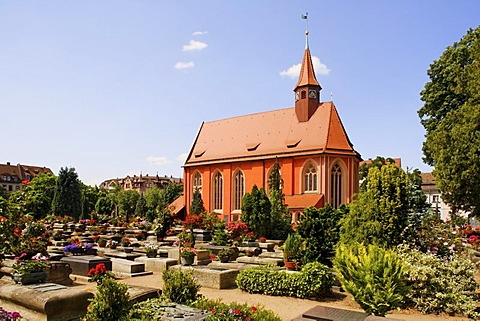 Church in the Johannis graveyard, St. Johannis area, Nuremberg, Middle Franconia, Bavaria, Germany, Europe