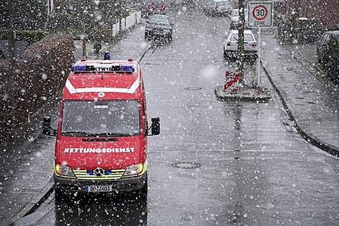 Ambulance vehicle, rescue service