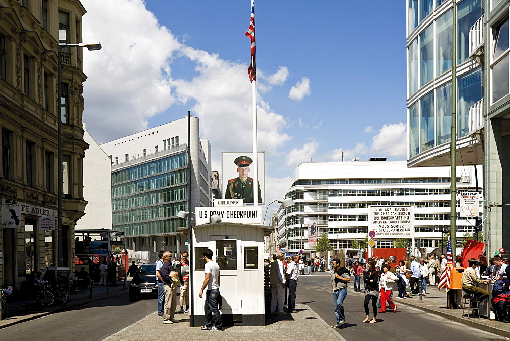 Checkpoint Charlie, former border control point in Berlin, Germany, Europe