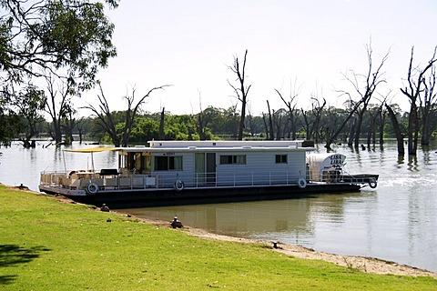 Housboat on the Murray river, Renmark, south Australia