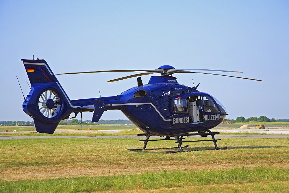 Eurocopter EC 135, helicopter of German Federal Police, Fenestron Impeller in fin