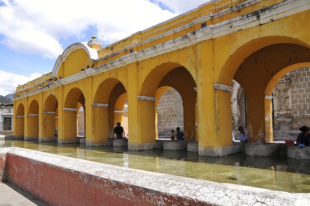 Public washing square, La Union Park, Antigua Guatemala, Guatemala, Central America