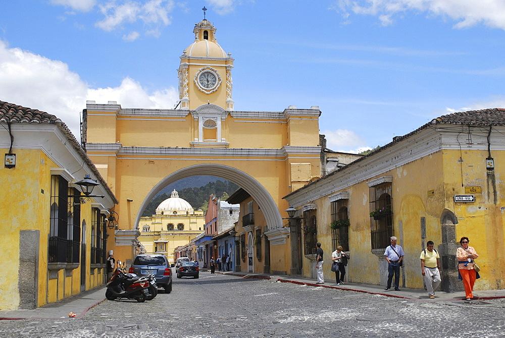 Arch of Santa Catalina Monastery, Antigua Guatemala, Guatemala, Central America