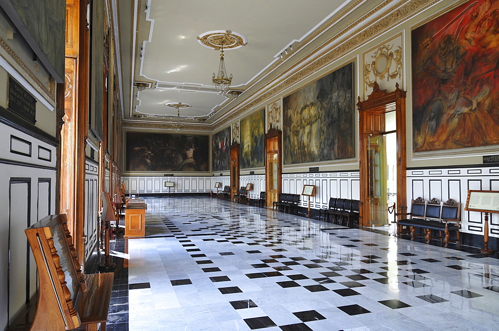 Palacio de Gobierno, Salon de la Historia, Merida, Yucatan, Mexico, Central America
