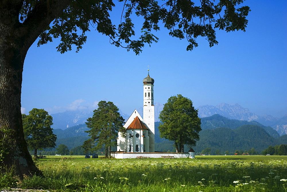 Pilgrimage Church Saint Coloman near Schwangau, Bavaria, Germany