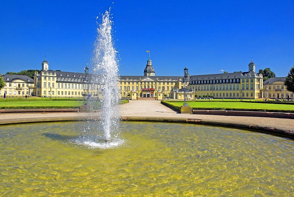 Karlsruhe Castle, Karlsruhe, Baden-Wuerttemberg, Germany