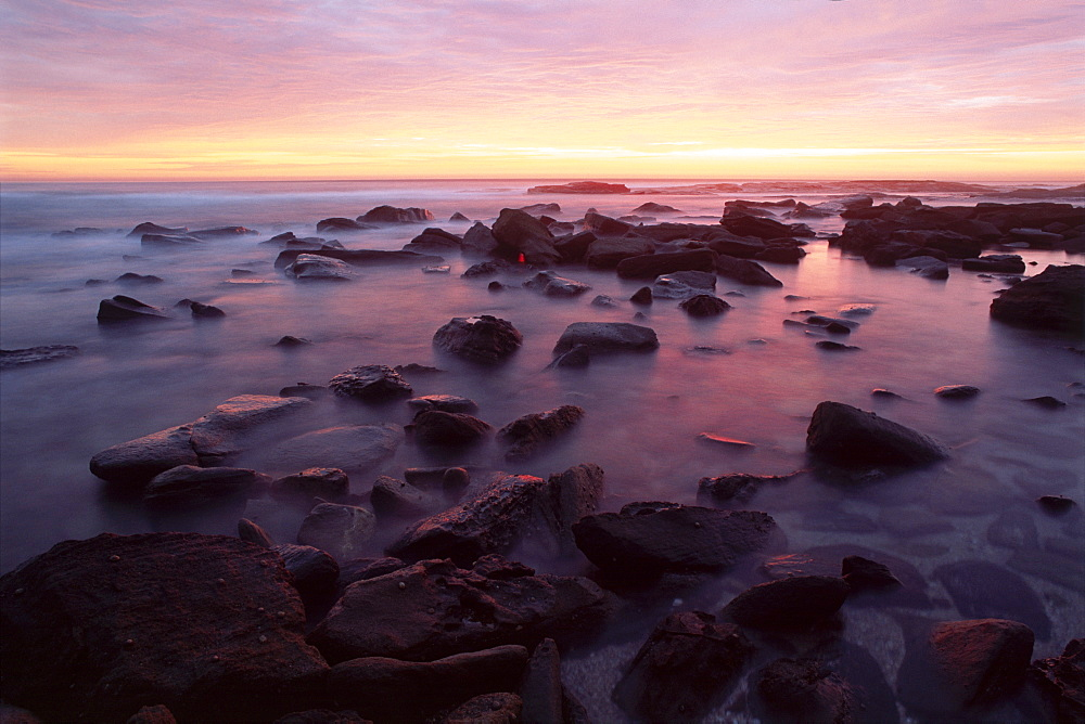 Sunrise over the coast in Bundjalung National Park, New South Wales, Australia, Oceania