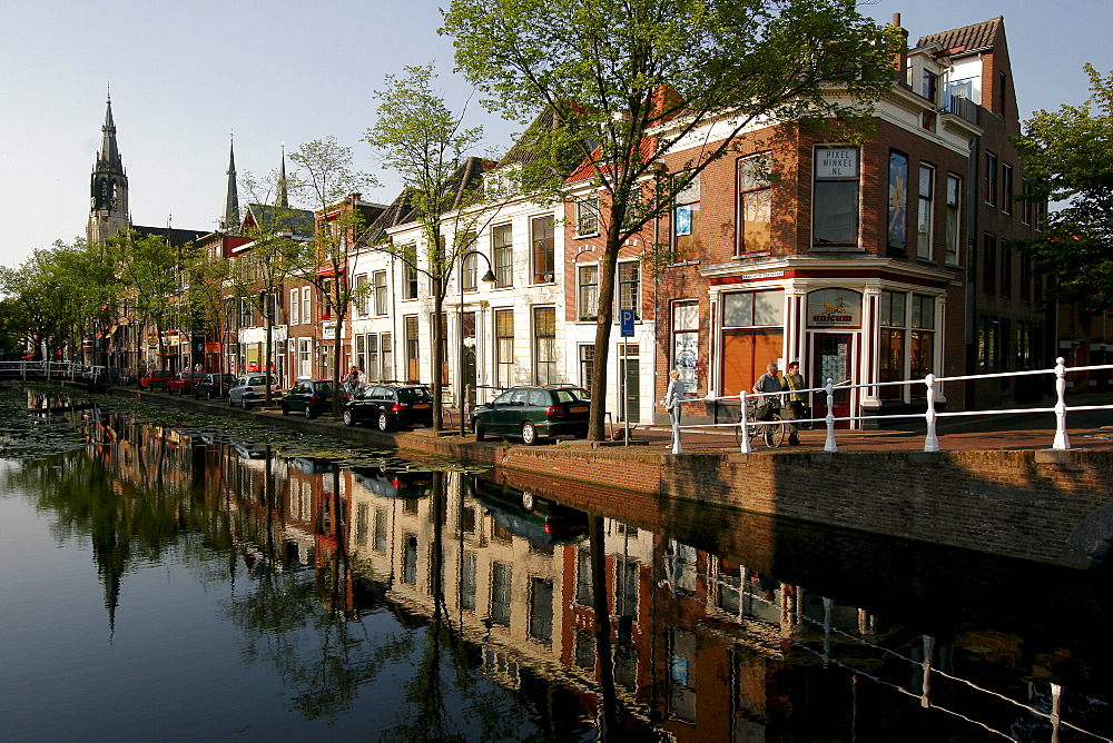 Canal in Delft , Netherlands