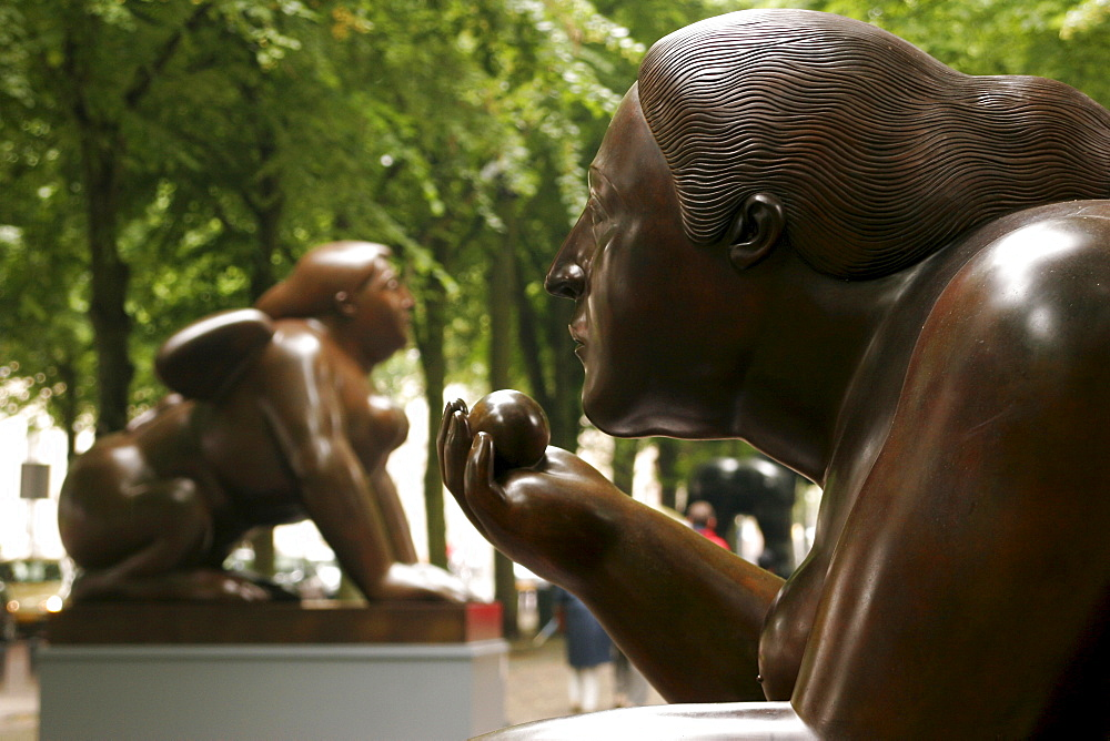 Sculptures by columbian artist Fernando Botero in The Hague Netherlands