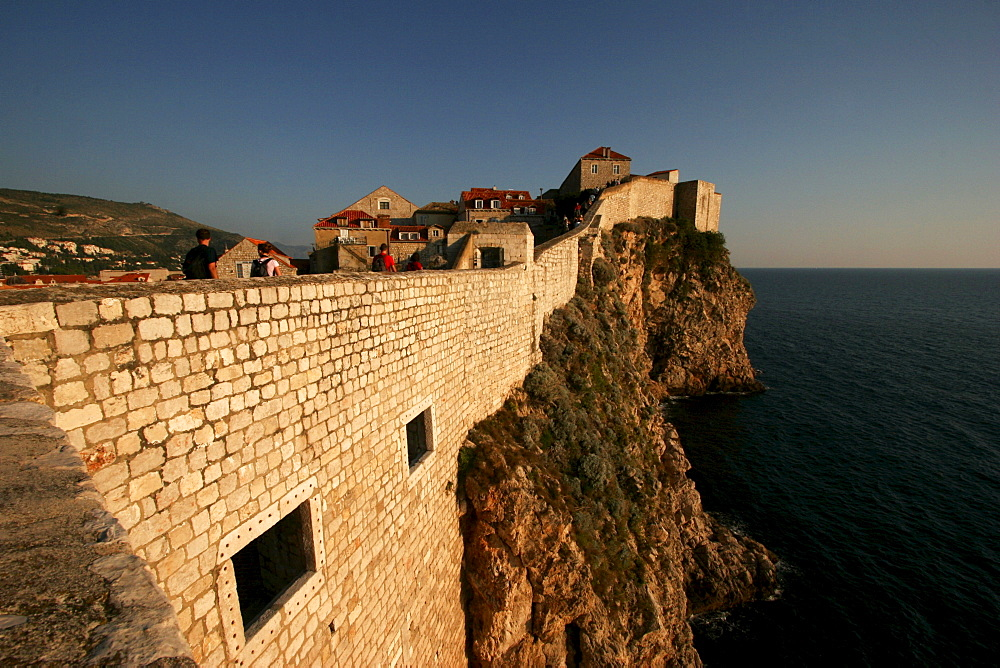 Walls around the old town, Dubrovnik, Croatia, Europe
