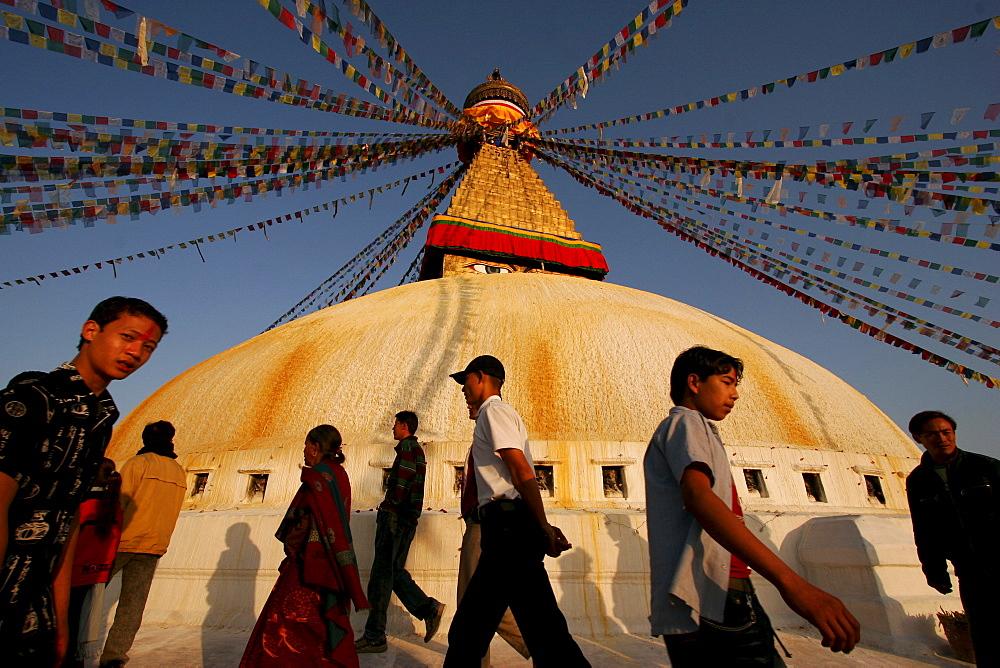 The stupa of Bodnath, Kathmandu, Nepal, Asia