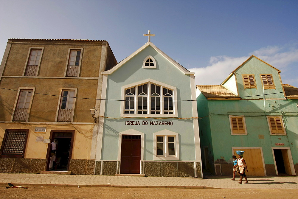 Igrja do Nazarena Church of Ribeira Grande on Santo Antao Island, Cape Verde, Cape Verde Islands, Africa