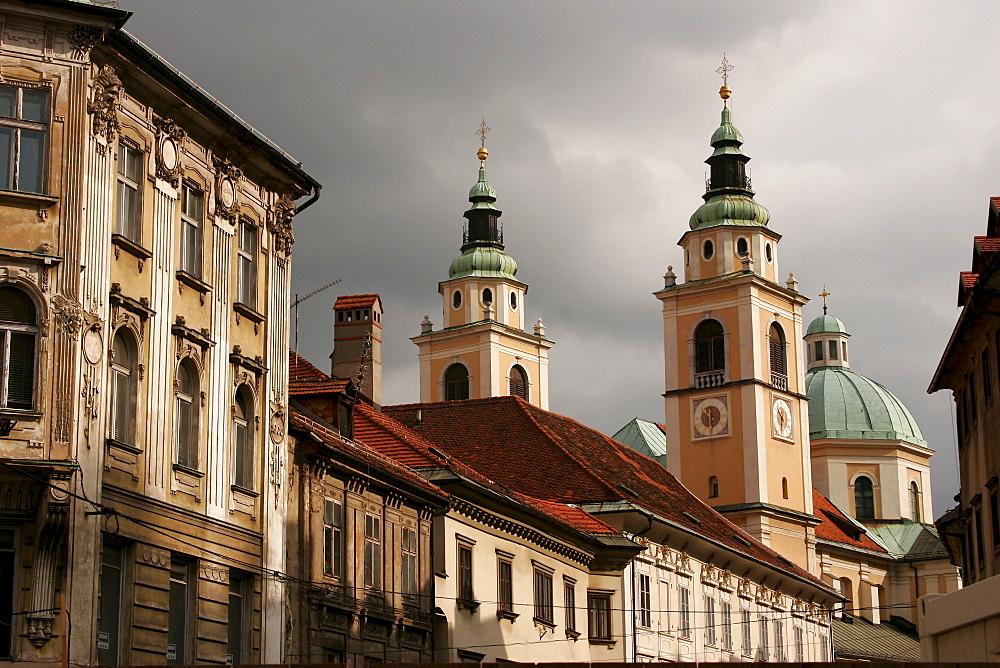 Cathedral in Ljubljana, Slovenia, Europe