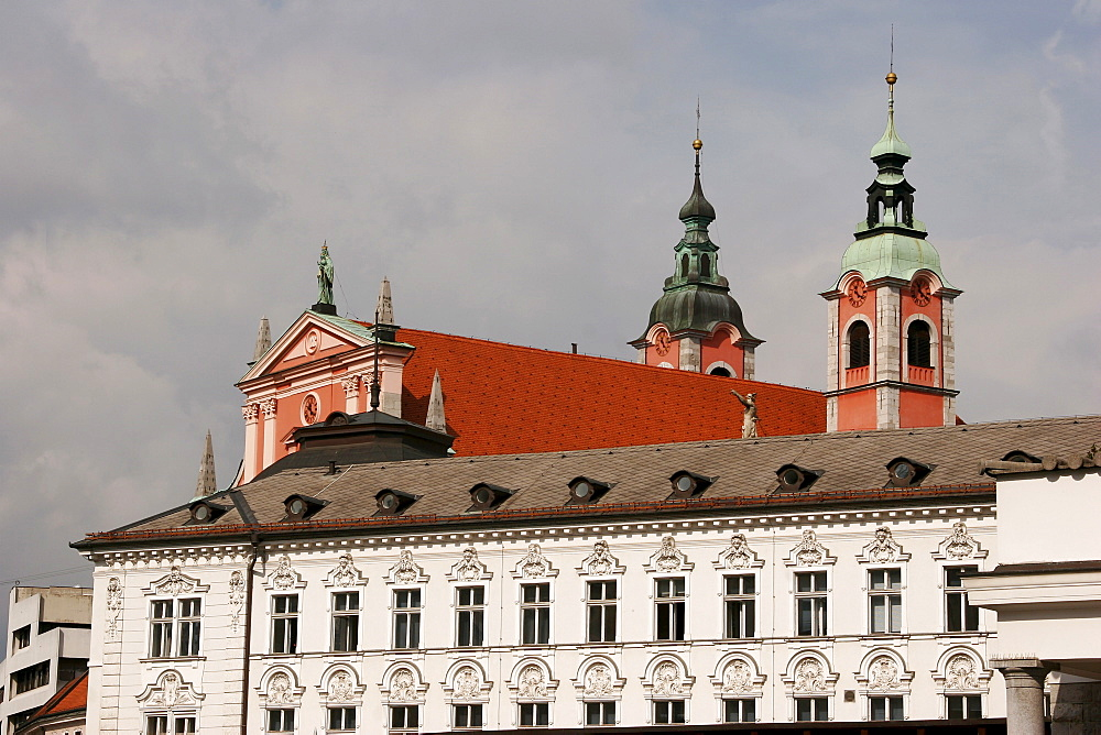 Franciscan Church, Ljubljana, Slovenia, Europe