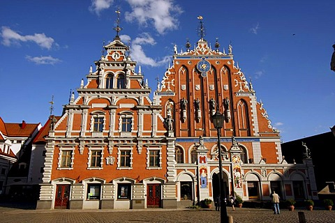House of the Blackheads at the Town Hall Square in Riga, Latvia, Baltic states