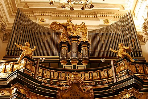 Church organ in the St. Peter and Paul Church in Krakow, Poland, Europe