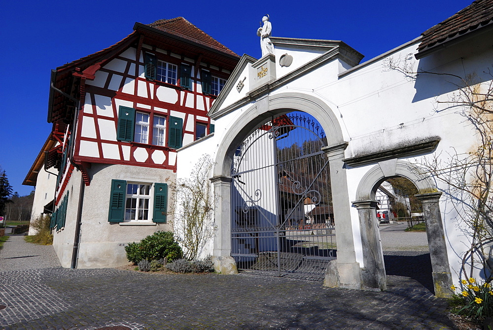 Entrance to the Carthusian Monastery in Ittingen, Switzerland, Europe