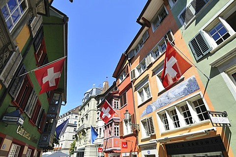 Augustiner-Gasse or alley, Zurich, Switzerland, Europe