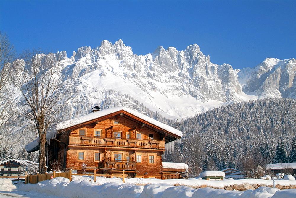Farmhouse, Wilder Kaiser, St. Johann, Tyrol, Austria, Europe