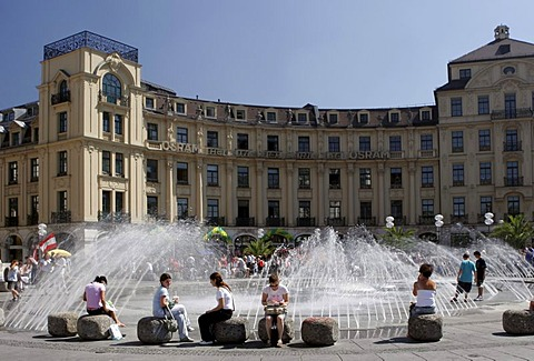 Fountain, Karlsplatz (Stachus), Munich, Upper Bavaria, Bavaria, Germany