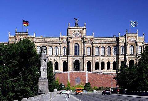 Maximilianeum, Munich, Upper Bavaria, Bavaria, Germany