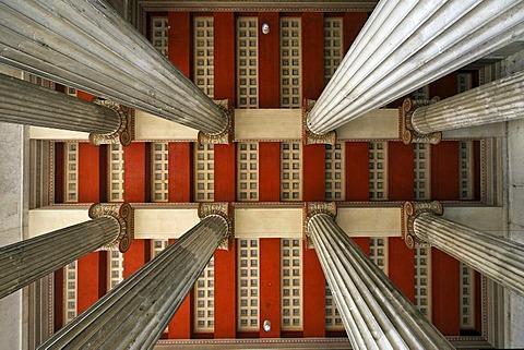 Ceiling, Propylaeen, Koenigsplatz, Deutsches Museum, Munich, Bavaria, Germany