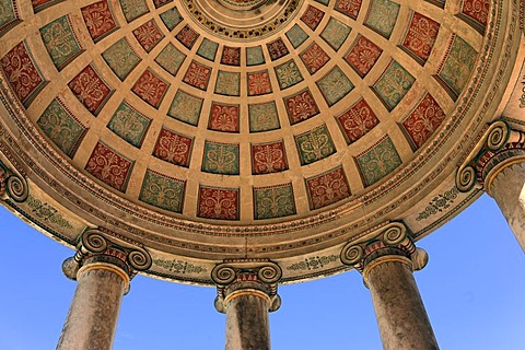 Ceiling of the monopteros (Roman temple) in the English Garden, Munich, Bavaria, Germany - 832-344854