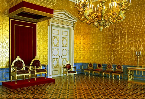 Throne hall of the queen in the Residence Museum, Munich, Upper Bavaria, Bavaria, Germany