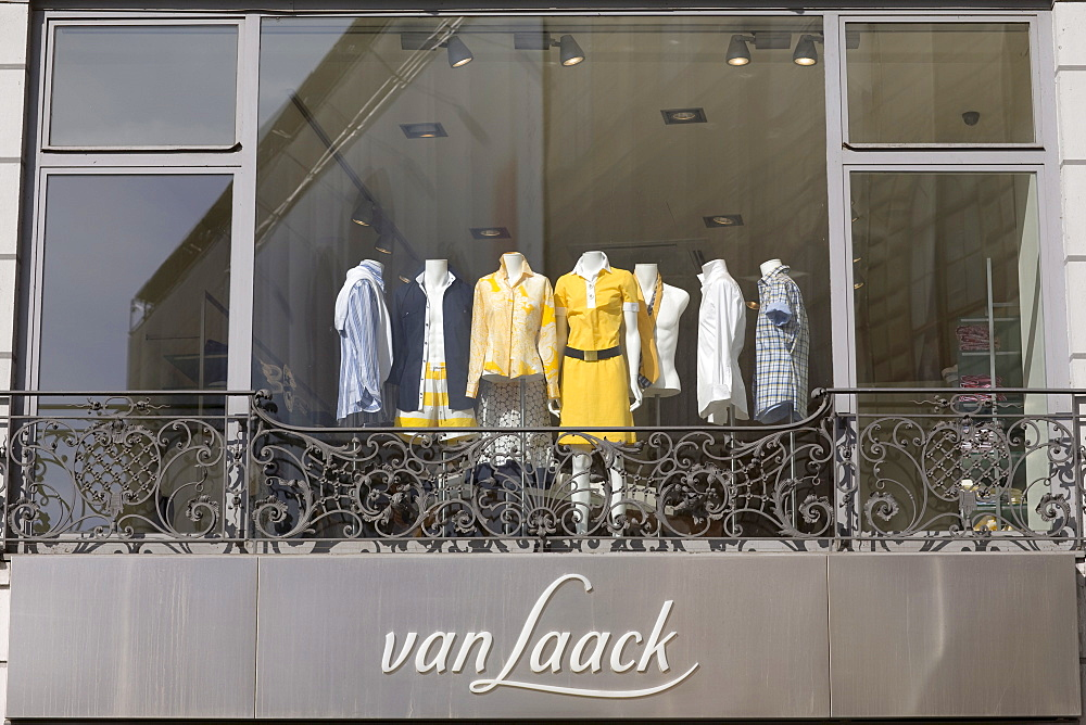 Shop window, Van Laak fashion boutique on the Residenzstrasse, Munich, Bavaria, Germany